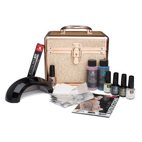 Red Carpet Manicure Gel Polish Royal Court-ture Collection Rose Gold Train Case Set 9ml