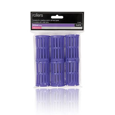 Salon Services Plastic Rollers Mauve 35mm Pack of 6