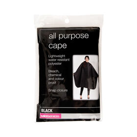Salon Services All Purpose Cape Black