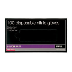 Salon Services Disposable Nitrile Gloves Pack of 100 - Small
