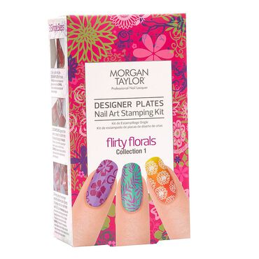 Morgan taylor designer plates nail art stamping kit flirty morgan taylor designer plates nail art stamping kit flirty florals collection prinsesfo Choice Image