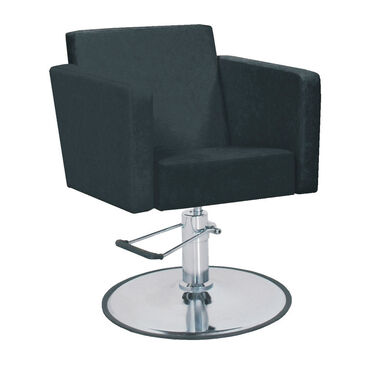 hydraulic styling chair. Bellazi Cubo Hydraulic Styling Chair Black