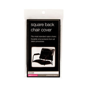 Salon Services Square Back Chair Cover - Clear