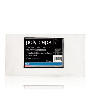 Salon Services Poly Caps Clear Pack of 100