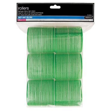 Salon Services Rollers Green 61mm Pack of 6
