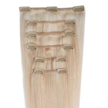 Wildest Dreams Clip In Half Head Human Hair Extension 18 Inch - 60 Blondest Blonde
