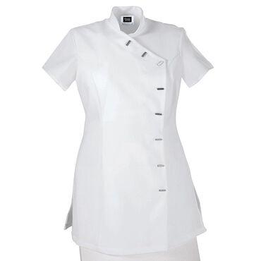 Simon Jersey Women's Asymmetrical Tunic White