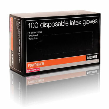Salon Services Disposable Latex Gloves Pack of 100 - Large