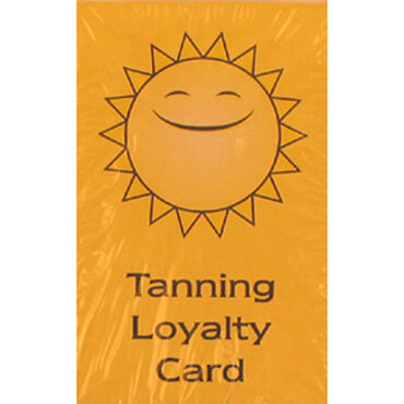 Salon Services Sunbed Loyalty Cards Pack of 100