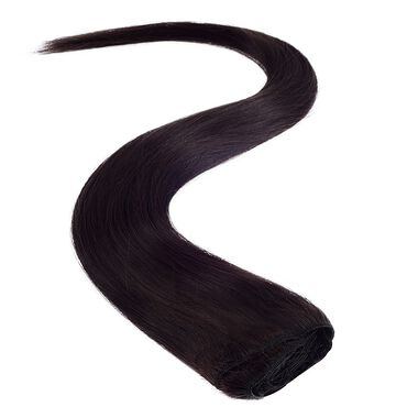 Wildest Dreams Clip In Full Head Human Hair Extension 18 Inch - 1B Barely Black