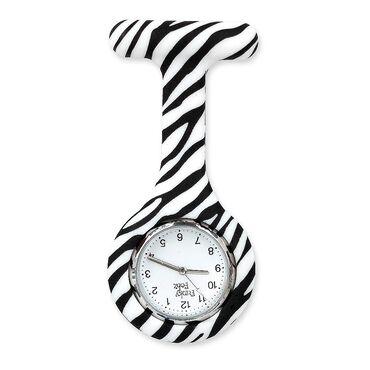 Funky Fobz Analogue Silicone Fob Watch Zebra