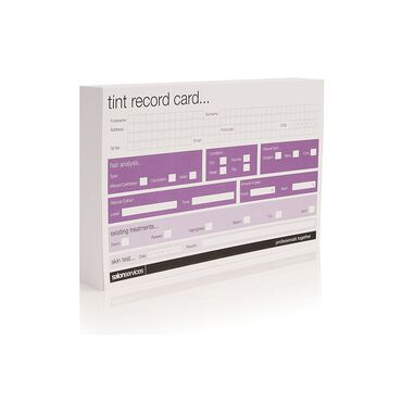 Salon Services Tint Record Card 50 Pack