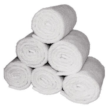 Beauty Pro White Facial Wrap Towels - Pack of 6