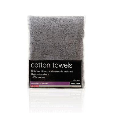 Salon Services Bleach Resistant Towel Steel Pack of 12