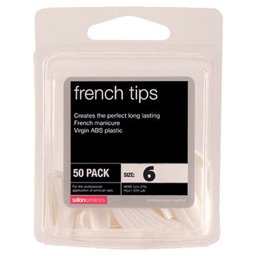 Salon Services French Tips Size 6 Pack of 50