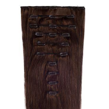 Wildest Dreams Clip In Full Head Human Hair Extension 18 Inch - 4 Mocha Brown