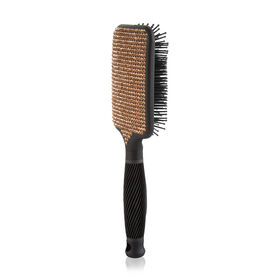 Salon Services Crystal Paddle Brush, Rose Gold
