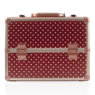 Salon Services Carina Beauty Box Medium Marsala Polka