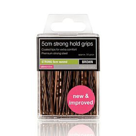 Salon Services Strong Hold Waved Grips Bronze 5cm Pack of 36