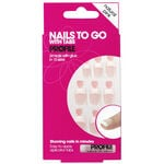 Salon System Nails To Go Pink Medium Square 24 pack