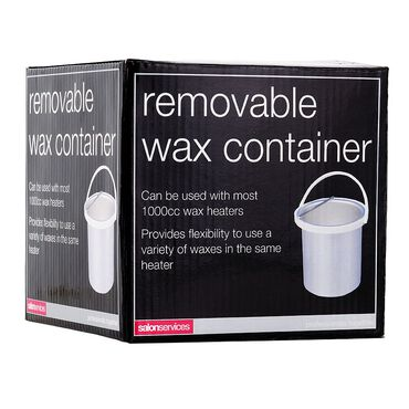 Salon Services Removable Wax Container