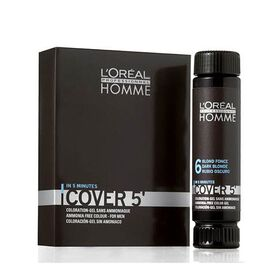 L'Oréal Professionnel Homme Cover 5 Semi Permanent Hair Colour - No 3 Pack of 3 50ml