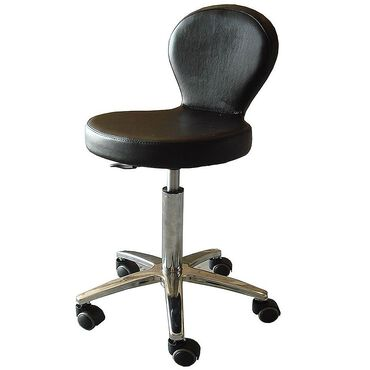 Salon Services Sicily Stool - Black