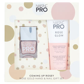 Nails Inc Pro Coming Up Rosey Rose Gold Hand & Nail Gift Set