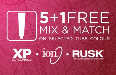 5+1 free on selected tube colour