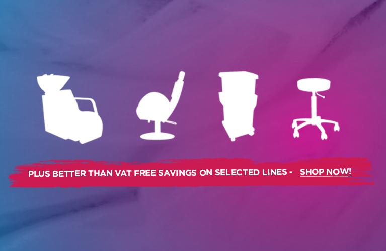 VAT Free on Salon Furniture & Equipment