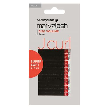 Marvelash J Curl Lashes 0.20 9mm Black