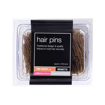 Salon Services Fine Waved Pin Brown Pack of 1000