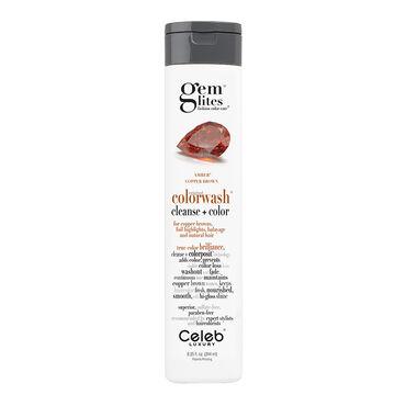 Celeb Luxury Gem Lites Semi Permanent Colourwash Shampoo Brown - Amber 244ml