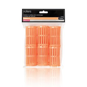 Salon Services Plastic Rollers Peach 40mm Pack of 6