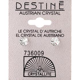 Crystallite Clear Cube Ear Studs 6mm