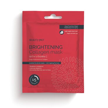 Beauty Pro Brightening Collagen Mask with Vitamin C