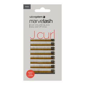 Marvelash J Curl Volume Strip Lashes 020 Black 11mm