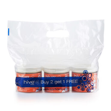 Hive of Beauty Options Warm Honey Wax 425g x 3