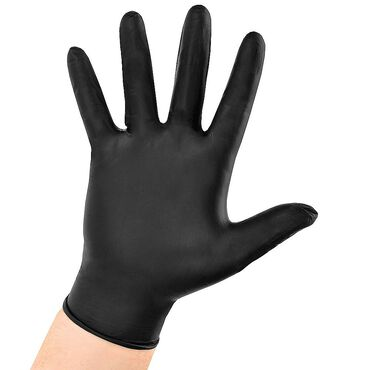 Salon Services Black Nitrile Gloves Pack of 100 - Small