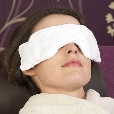 Waffle Eye Pillow White