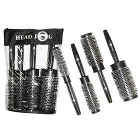 Head Jog Heat Retainer Quad Brush Set, Pack of 4