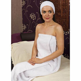 Beauty Express Towelling Sarong White