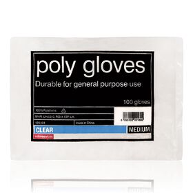 Salon Services Poly Gloves Clear Pack of 100