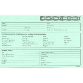 Beauty Express Aromatherapy Record Cards Pack of 50
