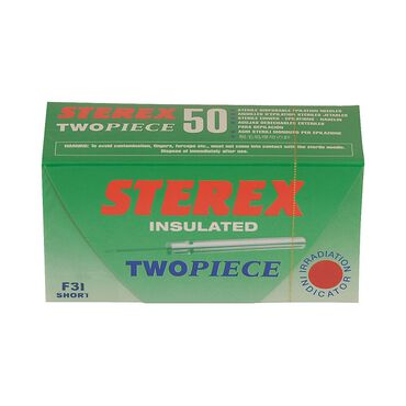 Sterex Electrolysis Insulated 2 Piece Needles F3I Pack of 50