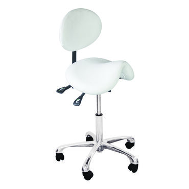 Salon Services Amelia Support Stool White