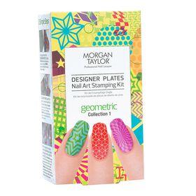 Morgan Taylor Designer Plates Nail Art Stamping Kit - Geometric Collection