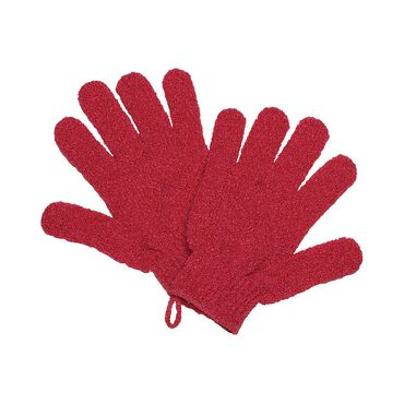 Salon Services Exfoliating Gloves Pink Pair