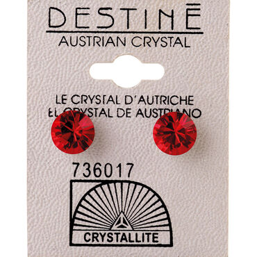 Crystallite Ruby Large Ear Studs 8mm