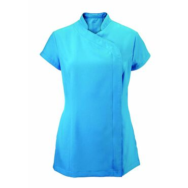 Alexandra Women's Easycare Wrap Zip Beauty Tunic - Peacock